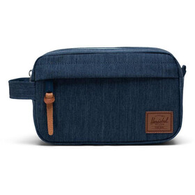 Herschel Chapter Carry On Sacoche de voyage, indigo denim crosshatch/saddle brown
